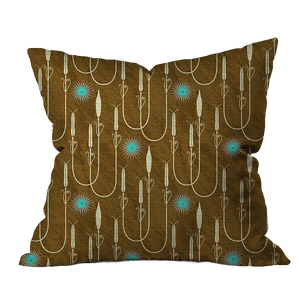 Aura Turquoise Floral Pillow Cover