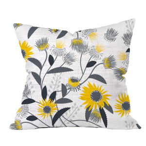Autumn Curlycup Floral Pillow Cover