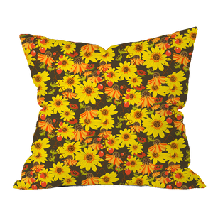 Autumn Mums Floral Pillow Cover