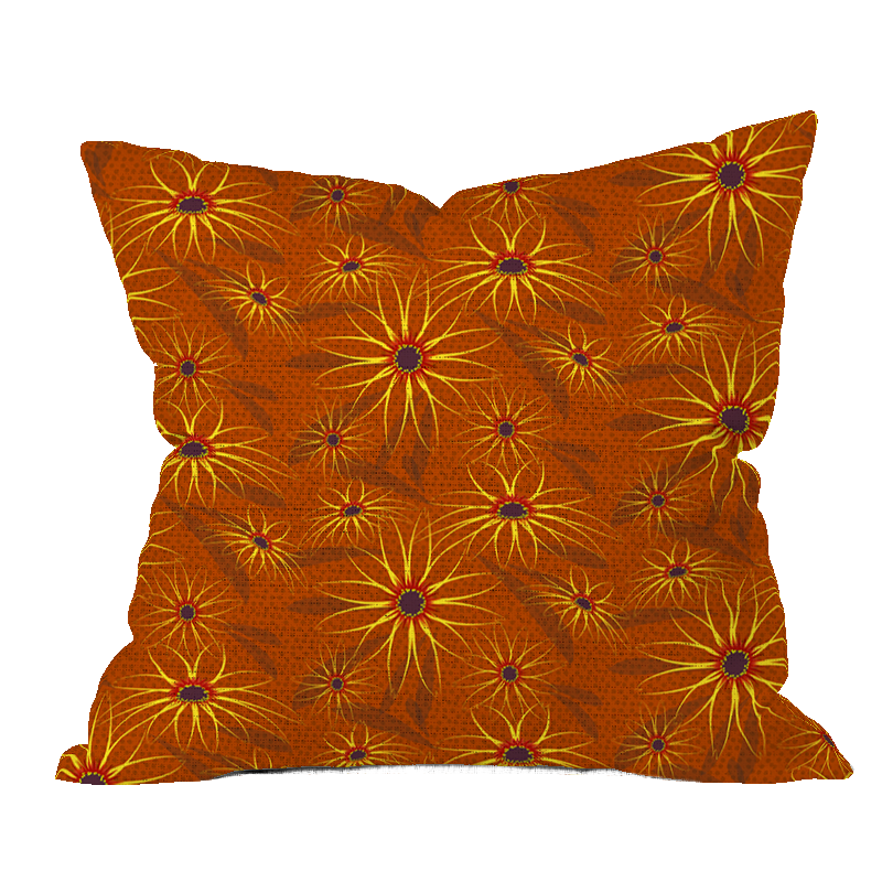 Blackeyed Susan Autumn Floral Pillow Cover