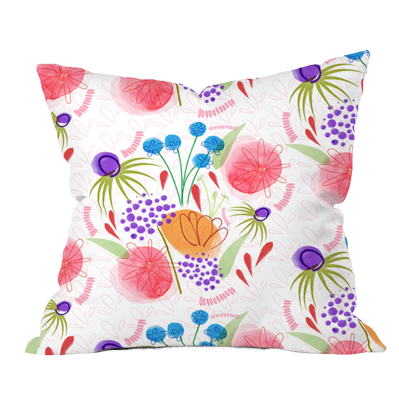 Bliss Floral Pillow Cover