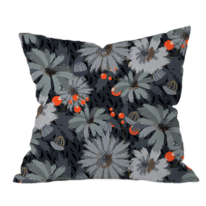 Chicory Dark Floral Pillow Cover