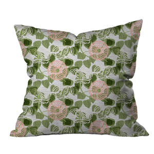 Clematis Morning Floral Pillow Cover