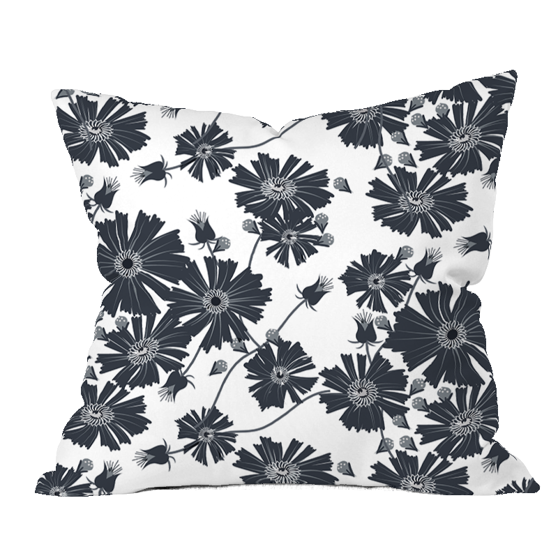 Coreopsis BWG Floral Pillow Cover