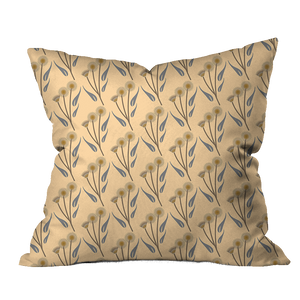 Dried Flower Bunch Floral Pillow Cover