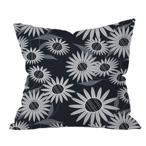 Echinacea BWG Floral Pillow Cover