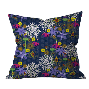 English Garden Dark Floral Pillow Cover