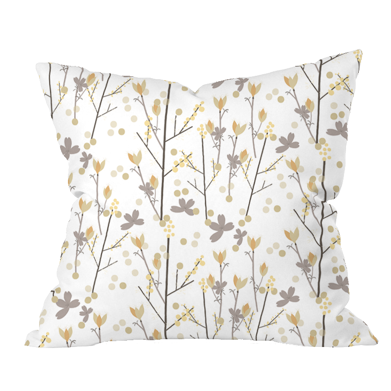 Fall Meadow Floral Pillow Cover