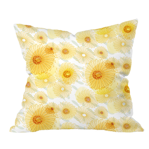 Field Marigold Floral Pillow Cover