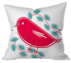 Holiday Red Bird Pillow Cover
