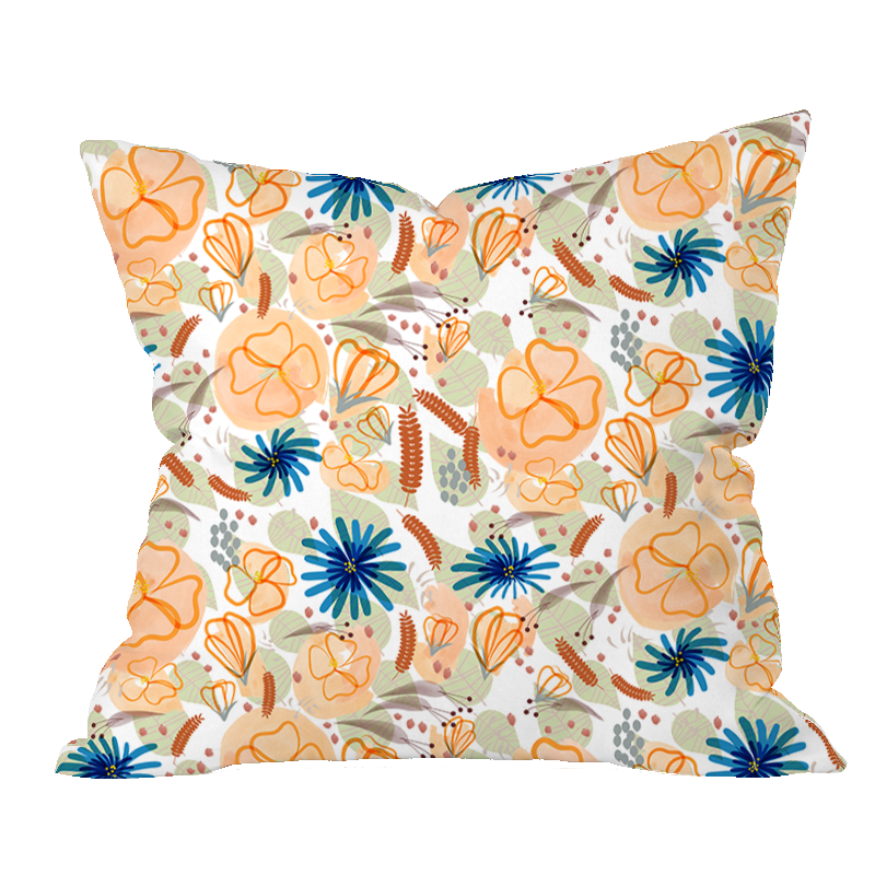 Late Bloomers Floral Pillow Cover