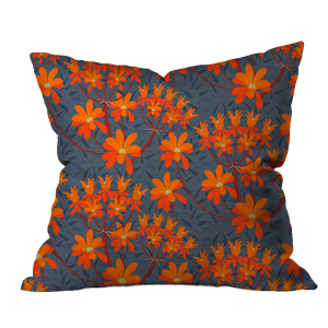 Milkweed Flower Floral Outdoor Pillow
