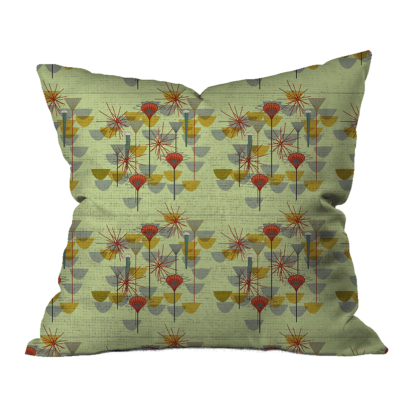 Mod Seedpods Floral Pillow Cover