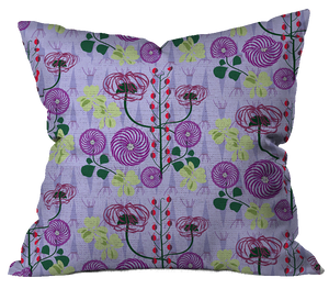Moody Fall Floral Pillow Cover
