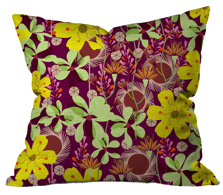 October Flowers Floral Pillow Cover