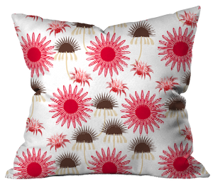 Pink Autumn Morning Floral Pillow Cover