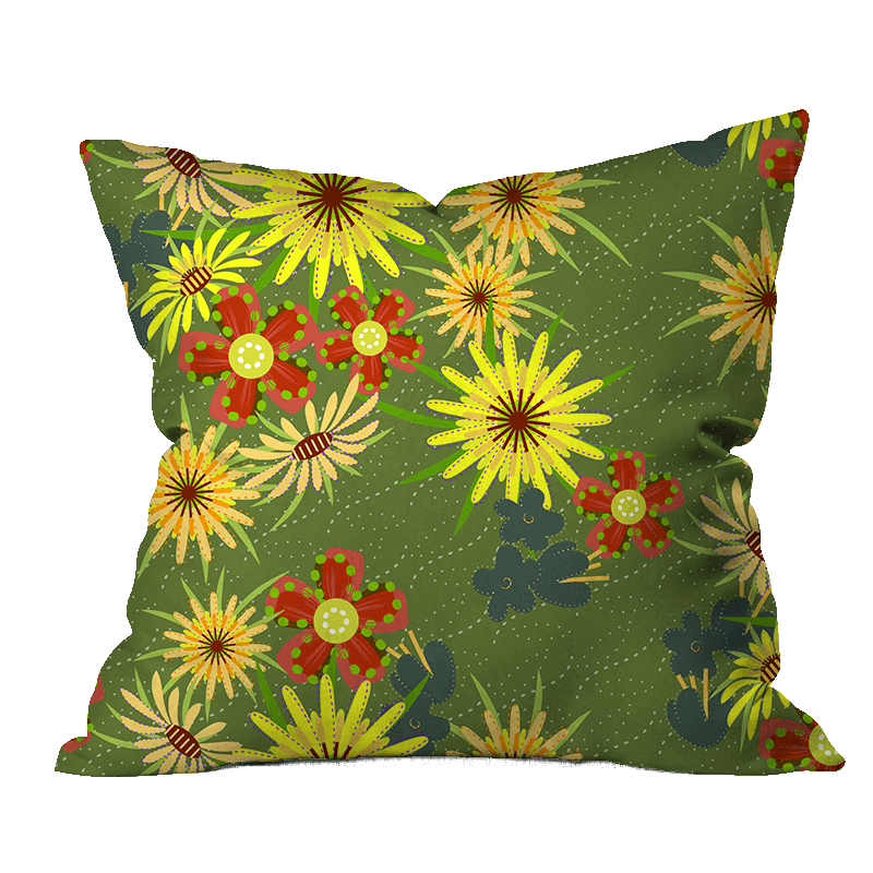 Salsify Floral Outdoor Pillow