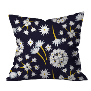 Sand Verbena Navy Floral Pillow Cover