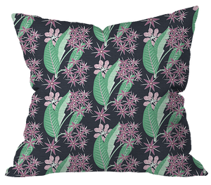 Showy Milkweed Floral Outdoor Pillow