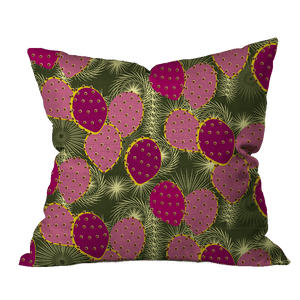 Spring Prickly Pear Floral Pillow Cover
