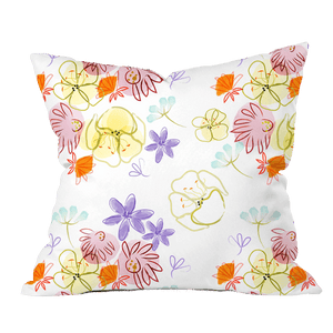 Spring Rain Floral Pillow Cover