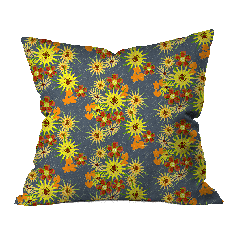 Salsify Summer Floral Outdoor Pillow