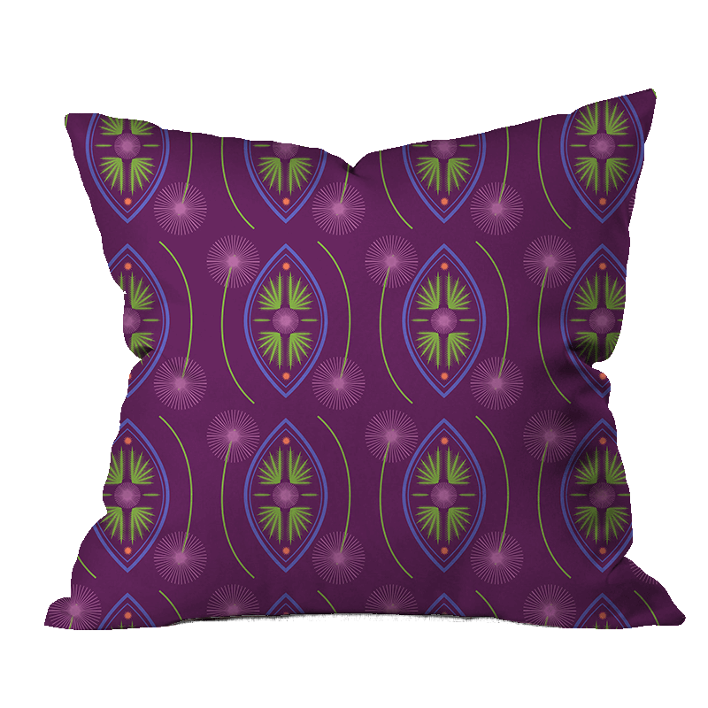 Thistle Glow Floral Pillow Cover