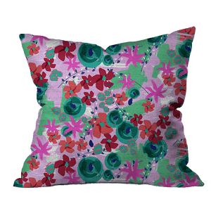 Tropical Holiday Floral Outdoor Pillow