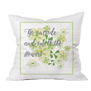 Go Outside Floral Pillow Cover