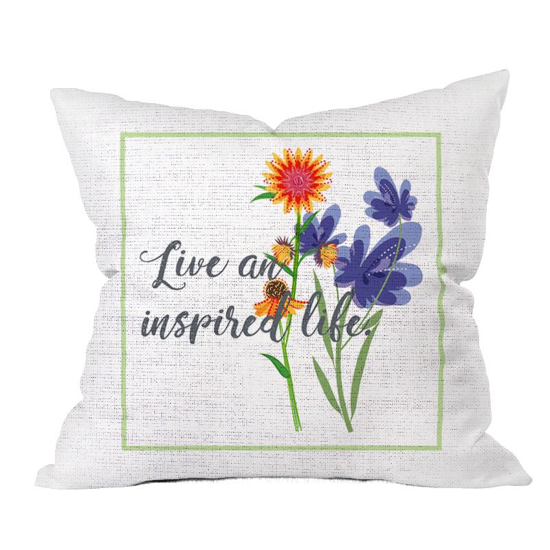 Inspired Life Floral Pillow Cover