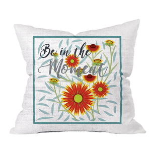 In the Moment Floral Pillow Cover