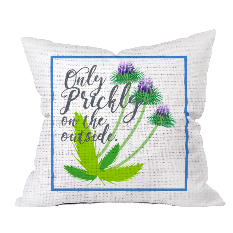 Only Prickly Floral Outdoor Pillow