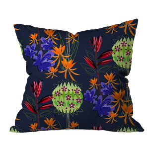 Wild Milkweed Floral Pillow Cover