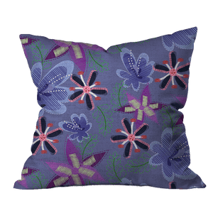 Zany Flowers Floral Outdoor Pillow