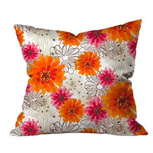 Zinnia Morning Floral Pillow Cover