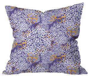 Allium and Mallow Pillow Cover