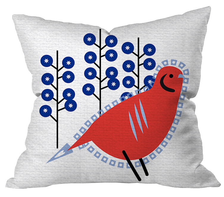 Holiday Partridge Pillow Cover