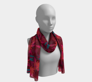 Autumn Glory Floral Scarf