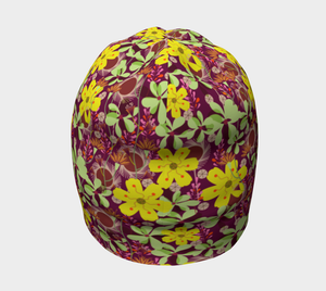 October Flowers Beanie