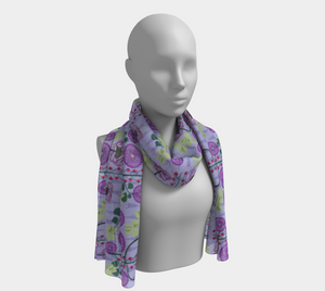 Moody Fall Floral Scarf