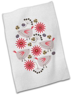 Chubby Birdies Cotton Tea Towel