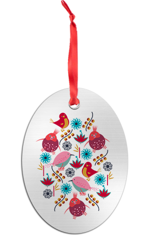 Funny Birds Holiday Ornament