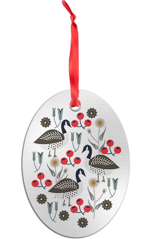 Holiday Geese Ornament