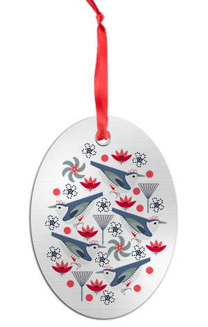 Holiday Wrens Ornament