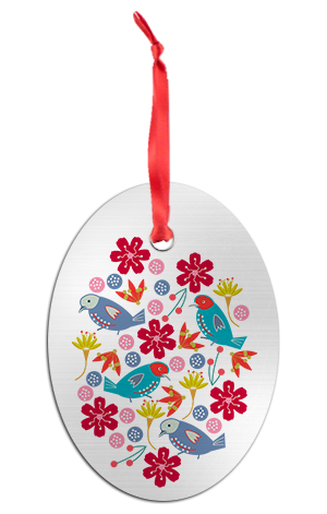 Nordic Bright Birds Ornament