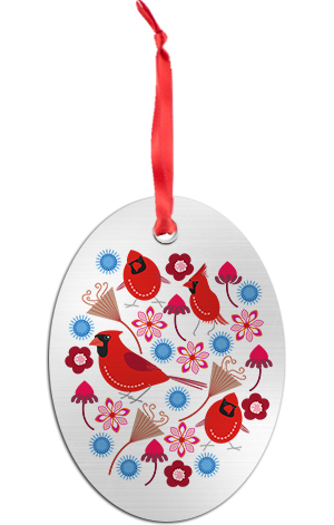 Cardinals Holiday Ornament
