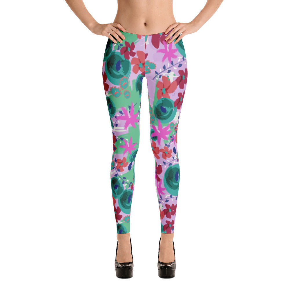 Tropical Holiday Floral Leggings