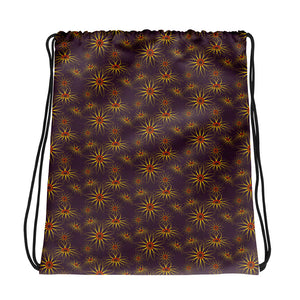 Blackeyed Susan Floral Drawstring bag