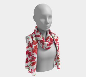 Red Penstemons Scarf