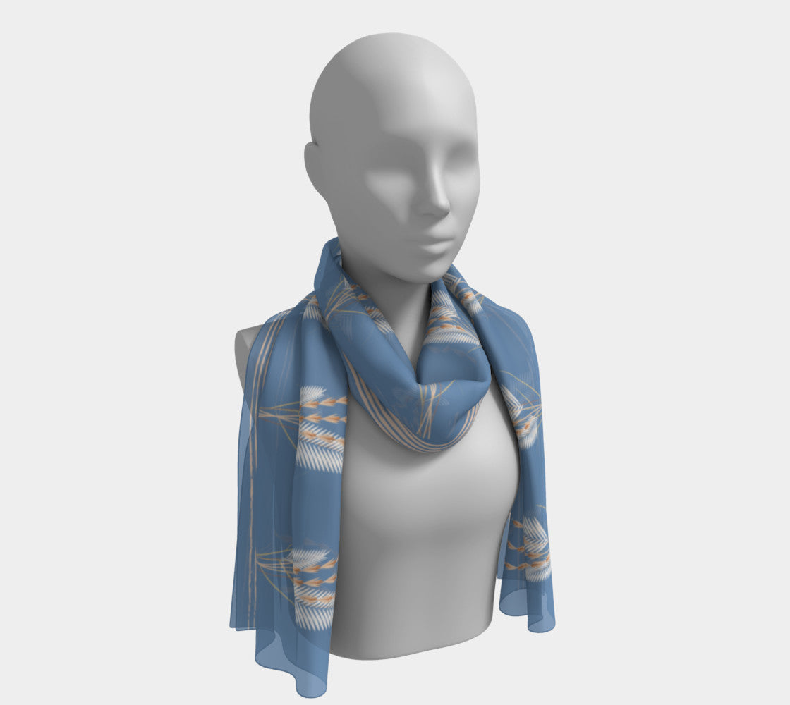 Dried Pale Grasses Scarf
